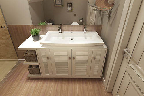 Bathroom Vanities and Sink Consoles in modern style. 3d visualization